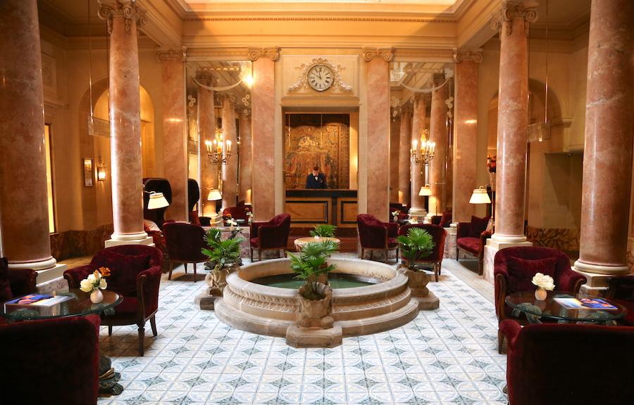 Beau-Rivage Hotel Lobby in Geneva Switzerland
