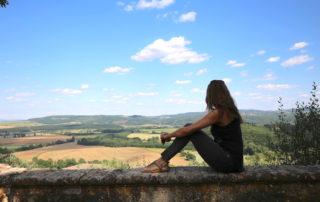 Annette White at Montestigliano luxury villa estate in Tuscany