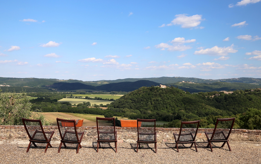 The view at Montestigliano Luxury Farmhouse Holidays in Northern Italy, Tuscany