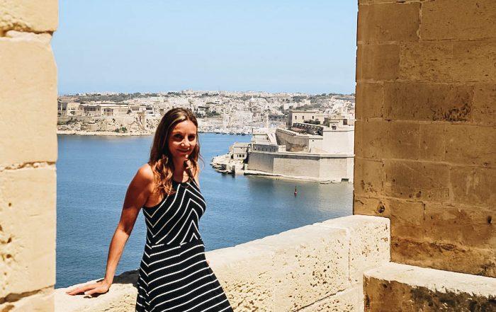 Annette in Barrakka Gardens Malta