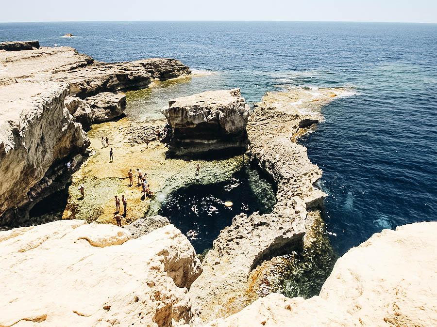 Dwejra Bay in Malta