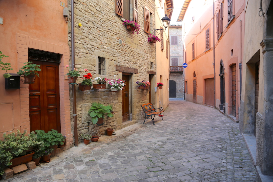 The quaint village of Mercatello sul Metauro in Le Marche, italy