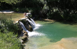 A waterfall in Le Marche region of Italy