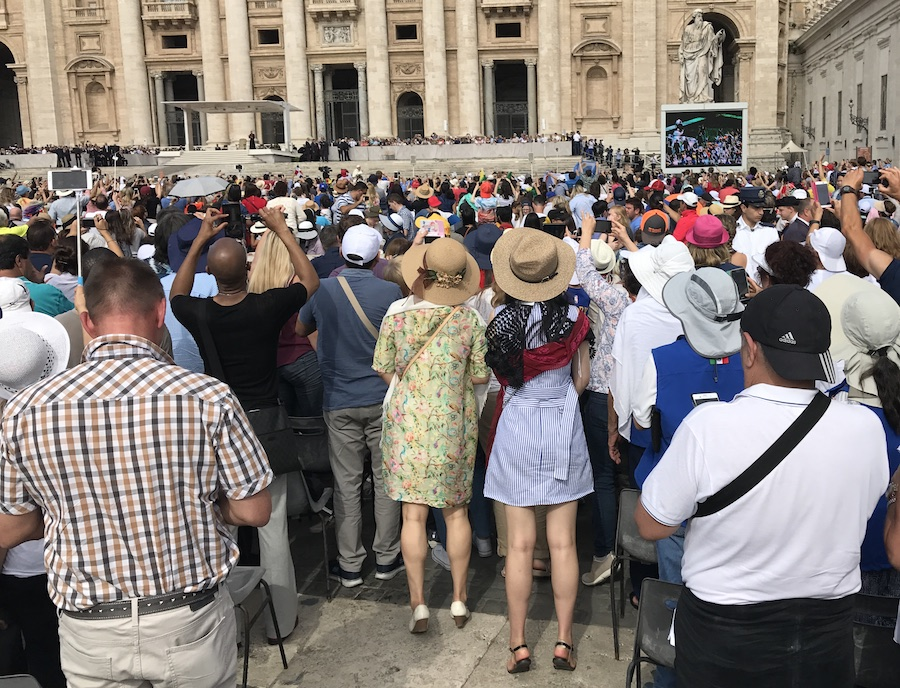 Papal Audience attire at the Vatican in Rome