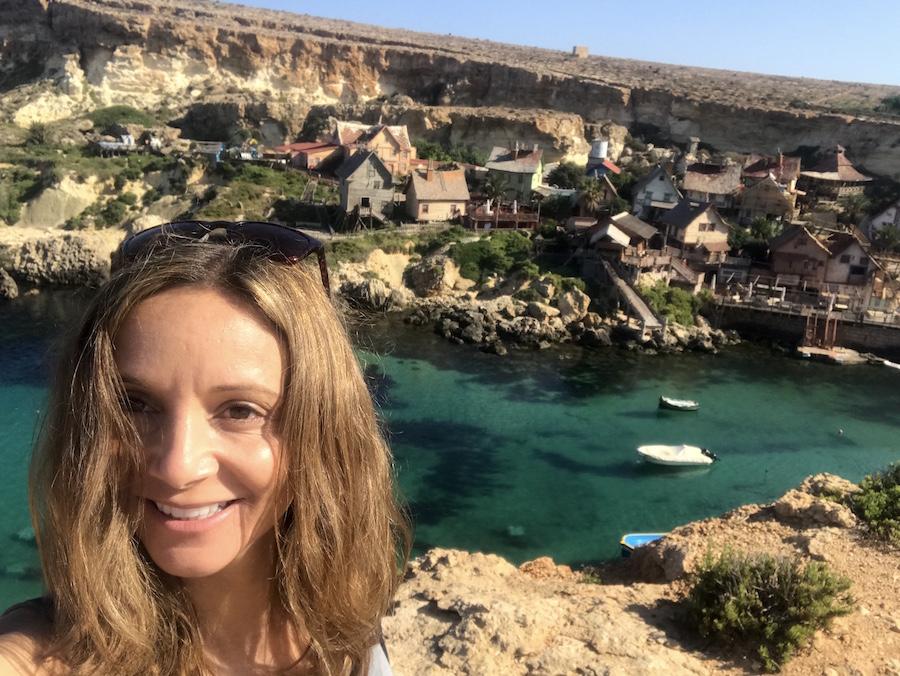 Annette White at Popeye Village in Malta