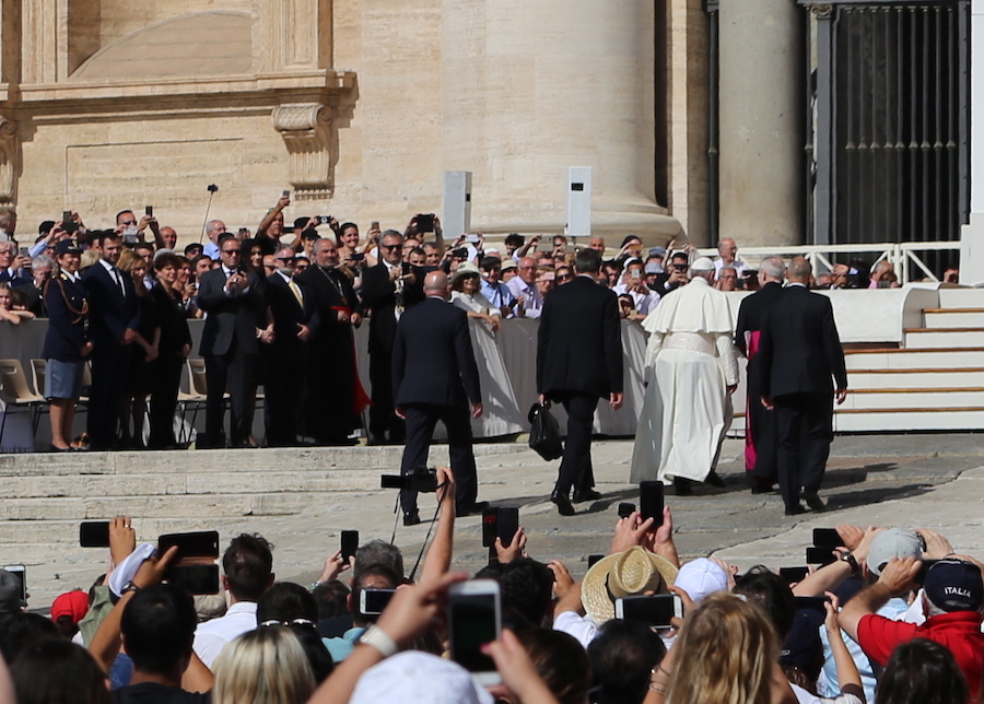 Pope Francis at the Vatican in Rome