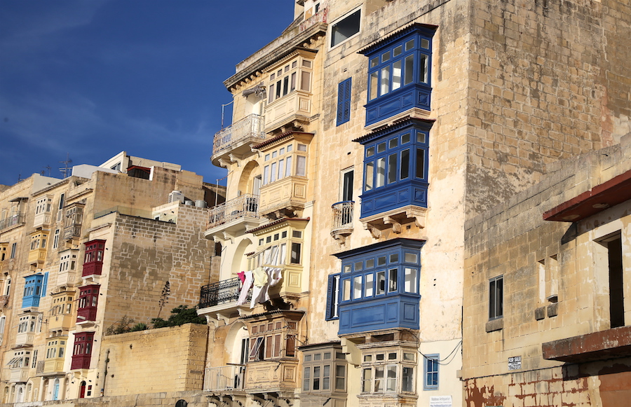 balconies of Valletta | Malta Bucket List: The Best Things to Do on the European Island