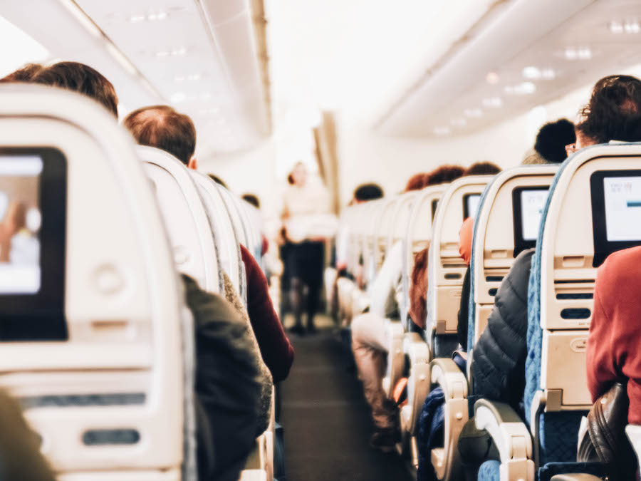 Inside of an airplane - Help to overcome fear of flying