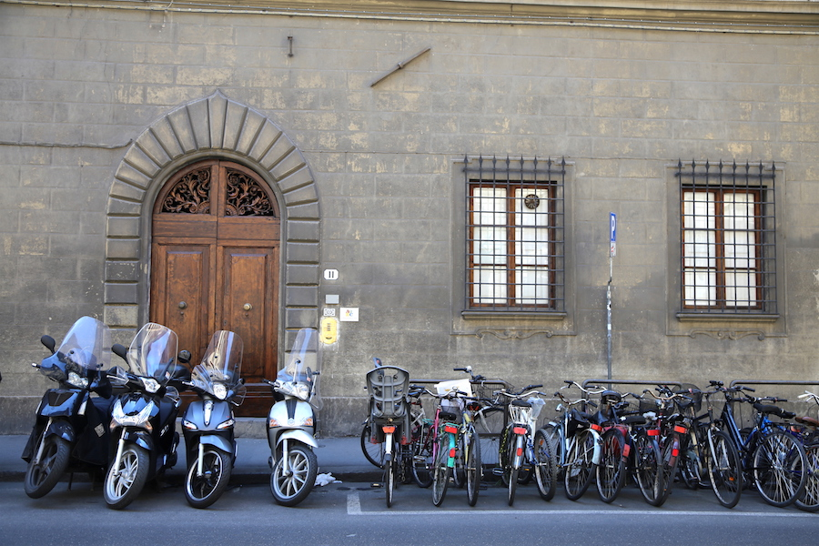Scooters on the Streets of Florence