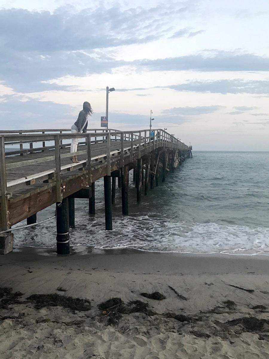 The pier at Goleta Park Beach in California