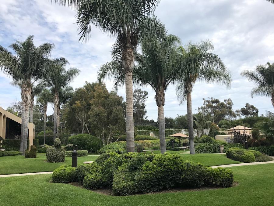 The Best Western grounds in Goleta, California
