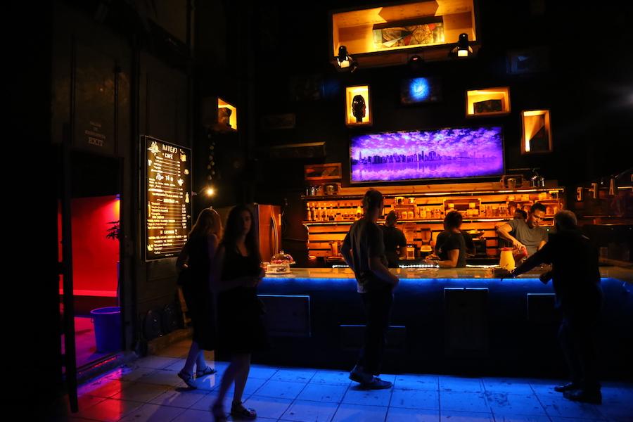 The bar at Fabrica de Arte Cubano Habana — Havana's Cuban Art Factory