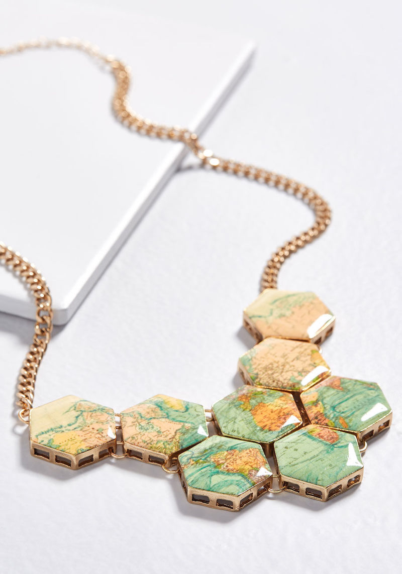 Travel Inspired Jewelry: World Map Necklace
