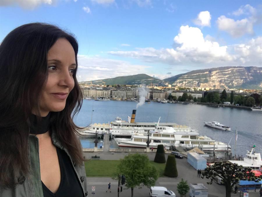 Annette White in Geneva, Switzerland