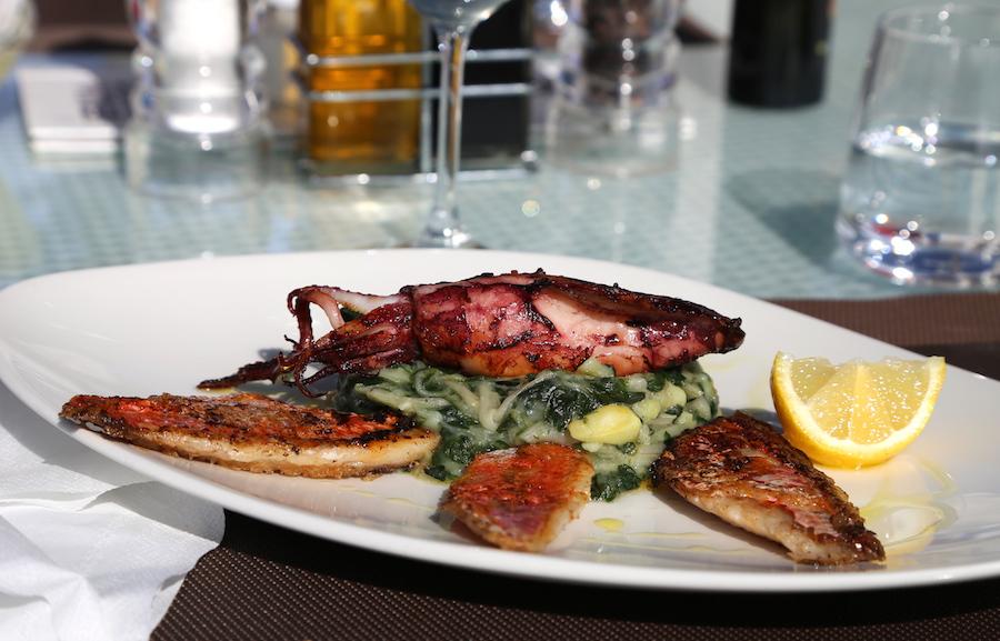 Squid at Borik Restaurant in Losinj Croatia
