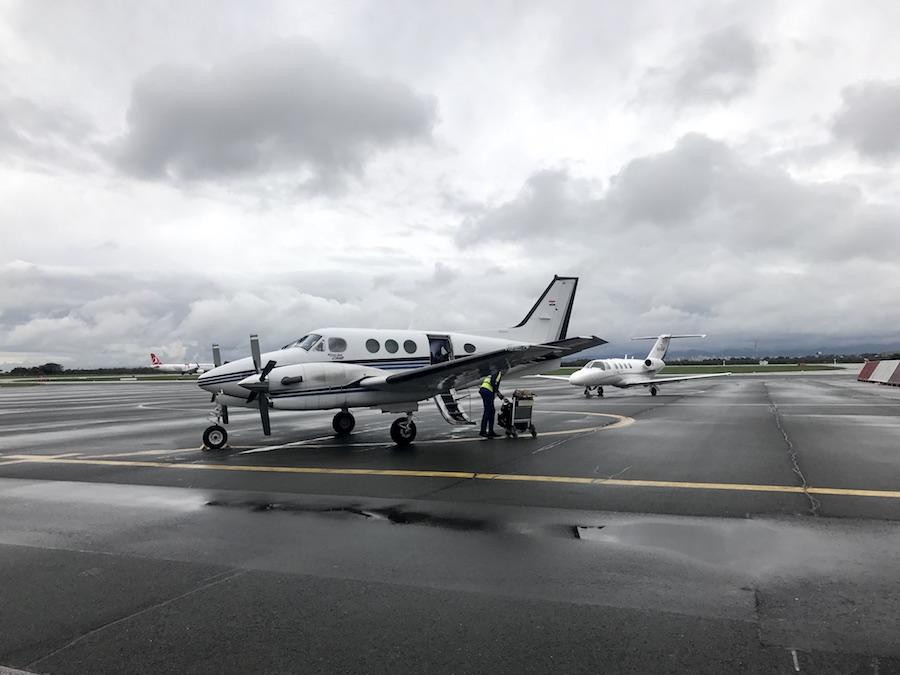 A private plane to losinj croatia