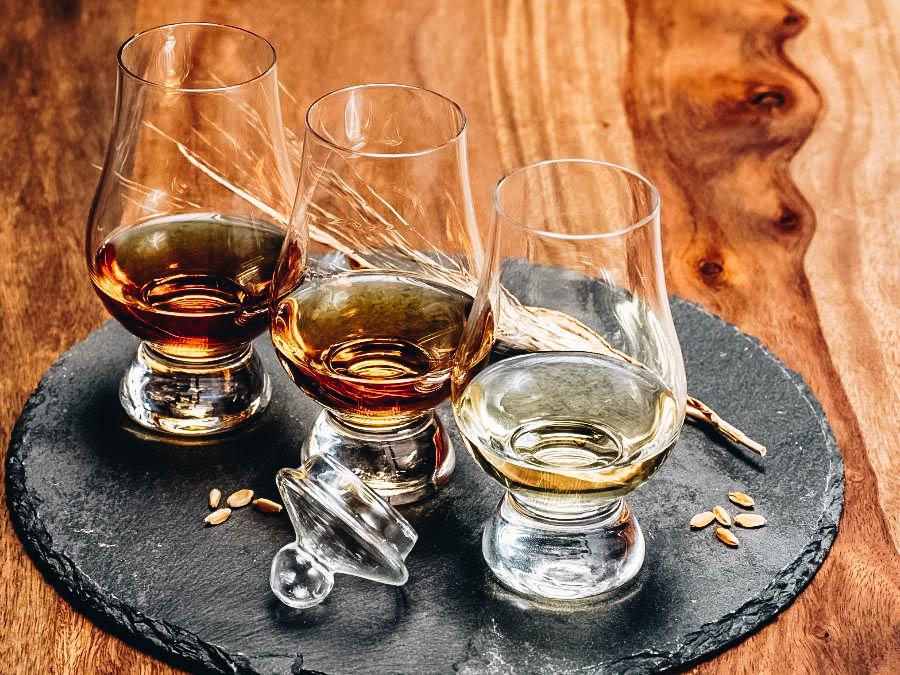 Spirit Tasting at a Distillery