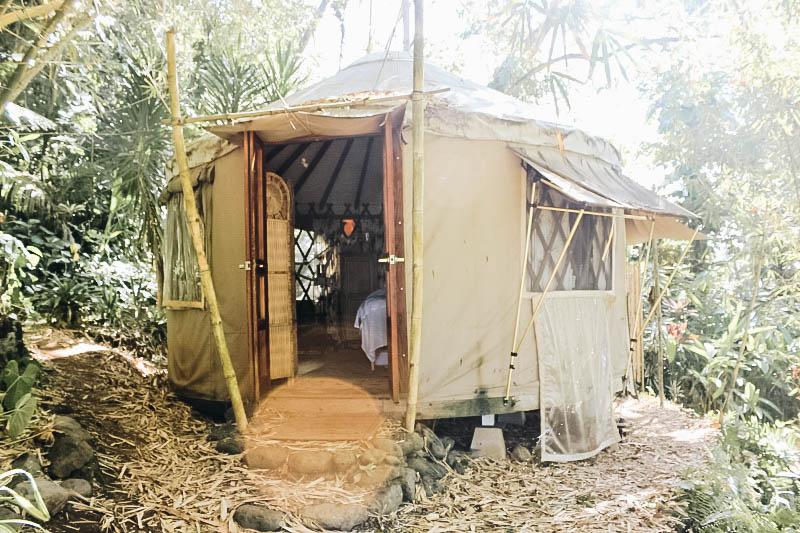 Yurt on Maui's Road to Hana