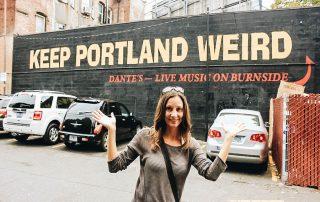 Annette near Keep Portland Weird Sign