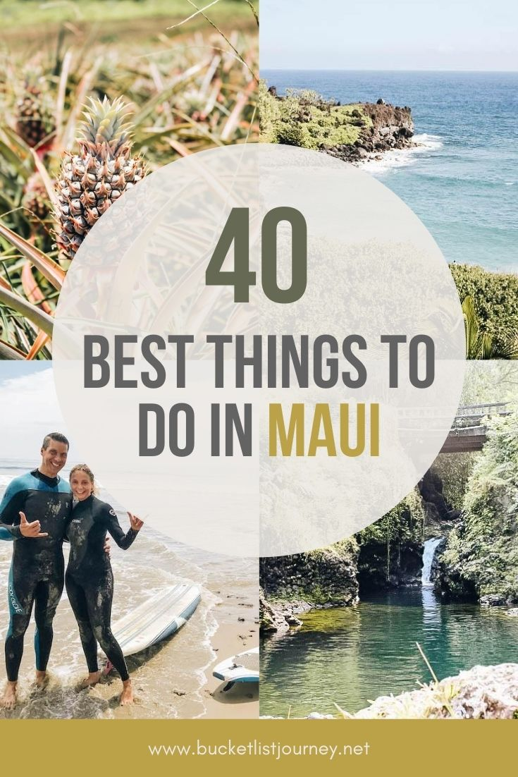 Top Must-D0 Activities and the Best Things to Do in Maui