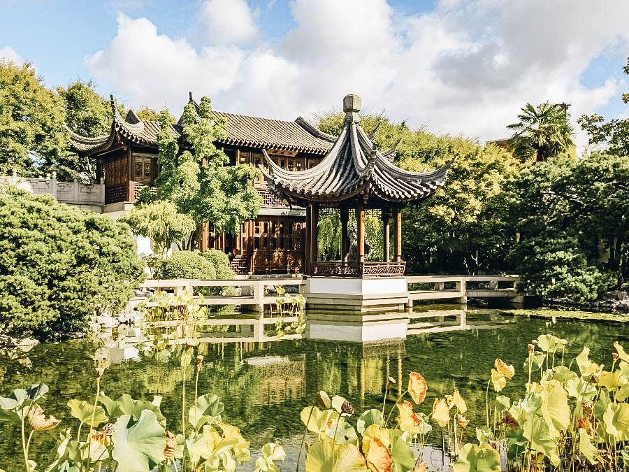 Stroll through Lan Su Chinese Garden