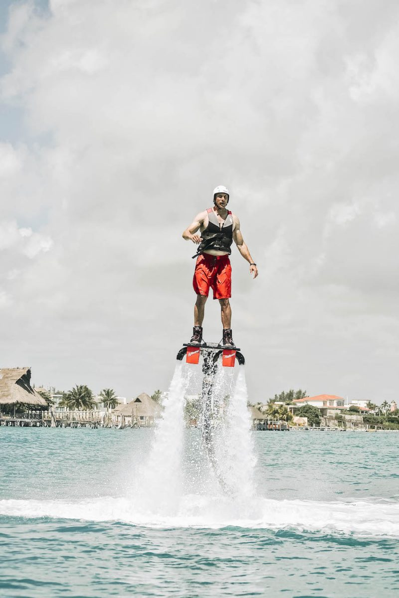 Jetpack flight in Cancun Mexico