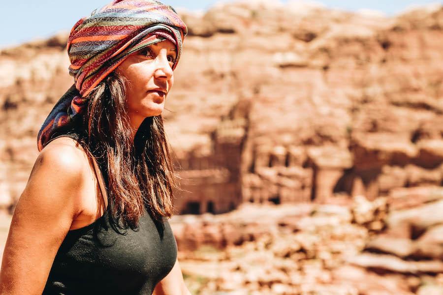 Annette White in Petra Jordan