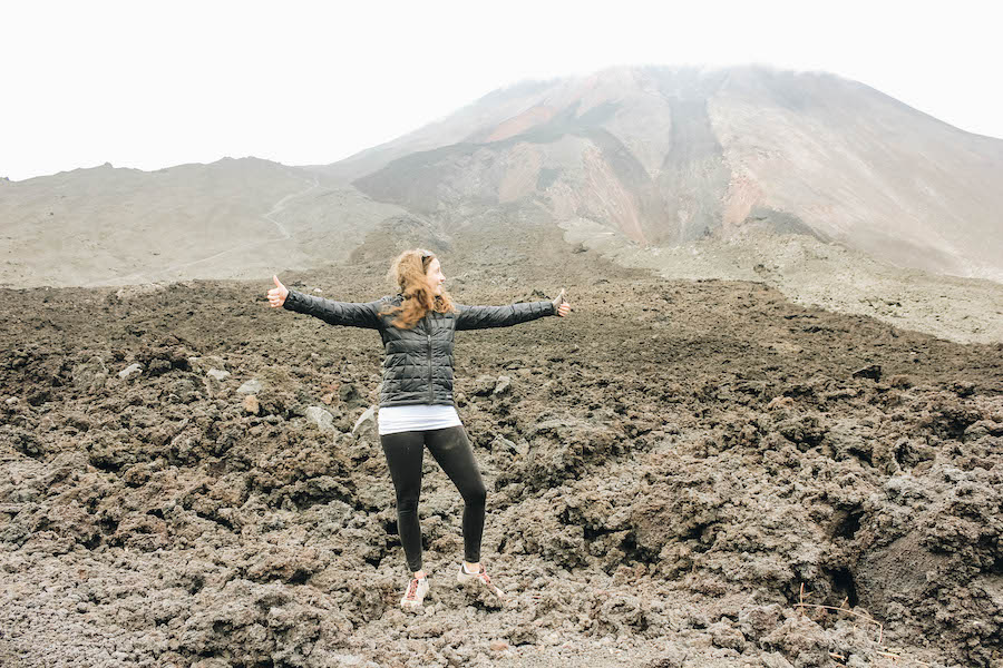 Annette White in Pacaya Volcano Guatemala