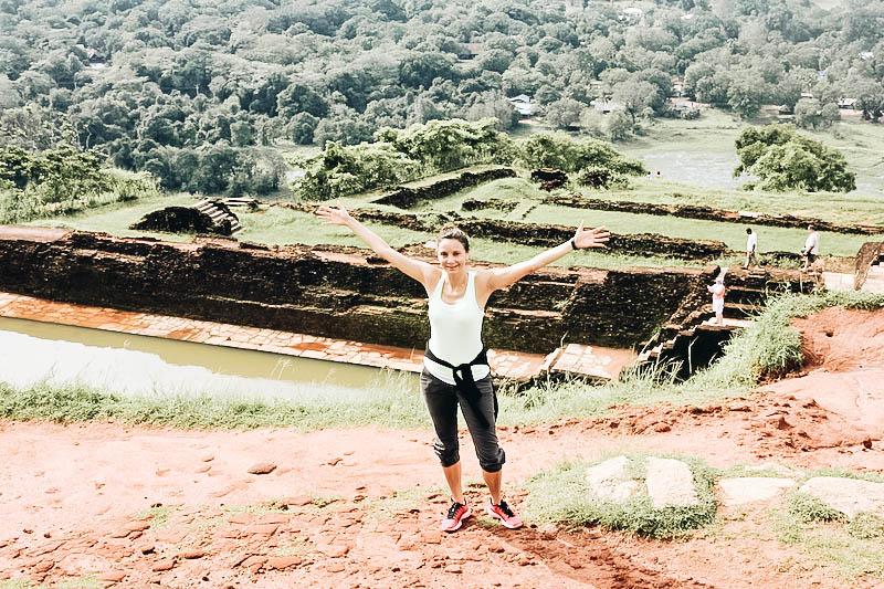 Annette White at Sigiriya in Sri Lanka