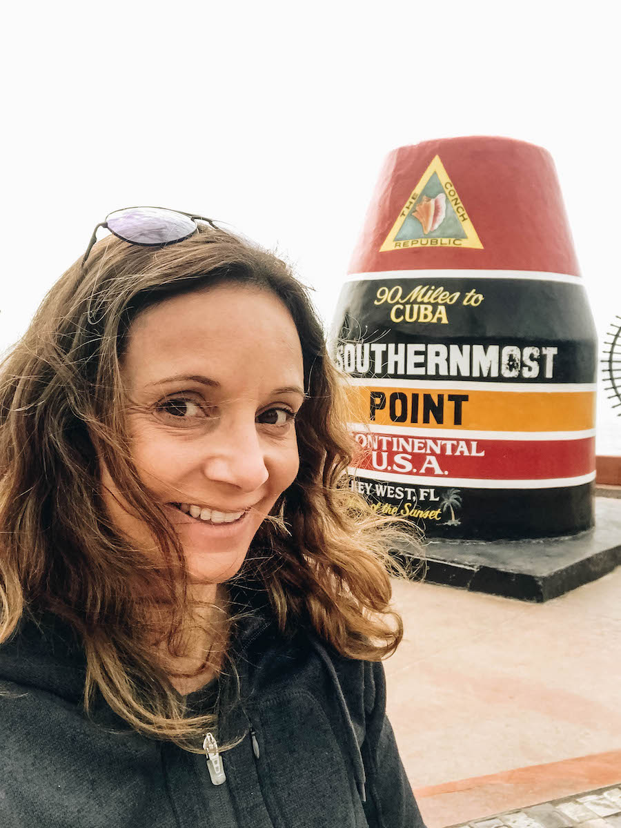 Annette White at the Southernmost Point in the Continental USA