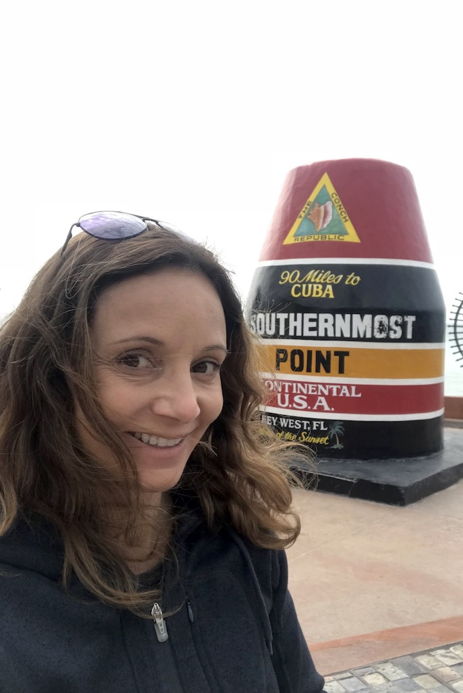 Annette at the Southern Most Point   Florida Keys Islands Bucket List: Best Things to do in Key West & Beyond