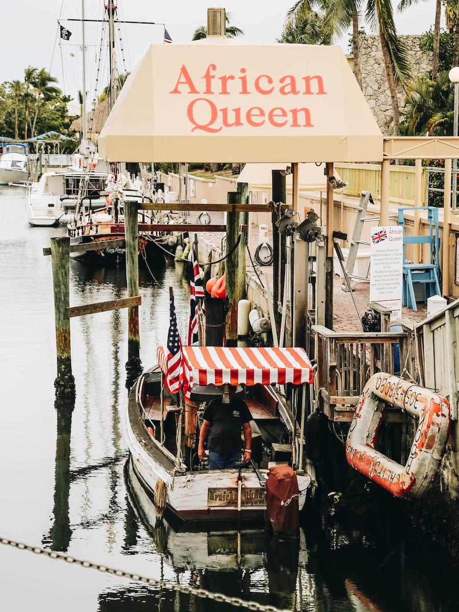 African Queen boat in Key Largo Florida