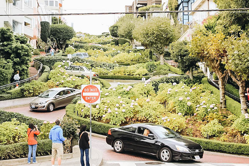 Crookedest Street in San Francisco