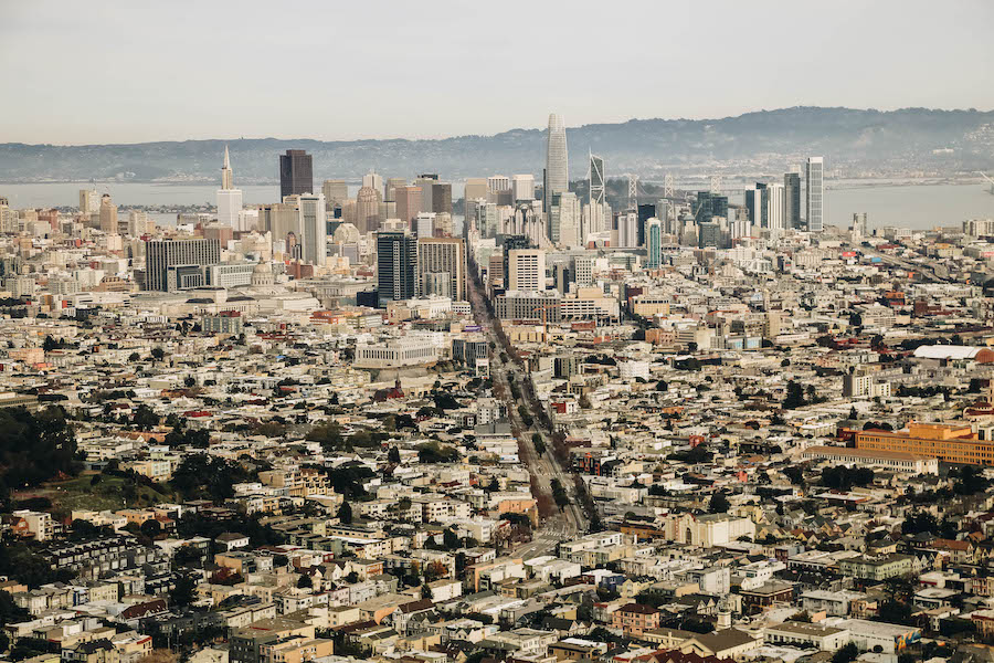 San Francisco Attraction: View from Twin Peaks