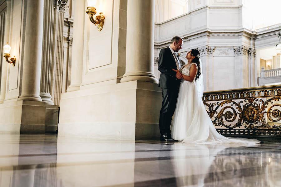 Beautiful Bride at SF's City Hall