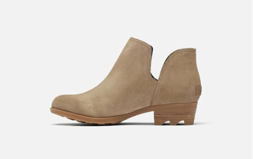 Leather Cut Out Slip on Bootie