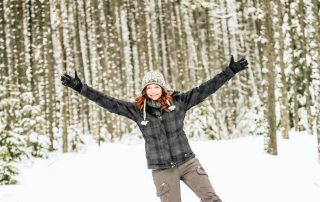 Annette White Snowshoeing in the winter in Montana