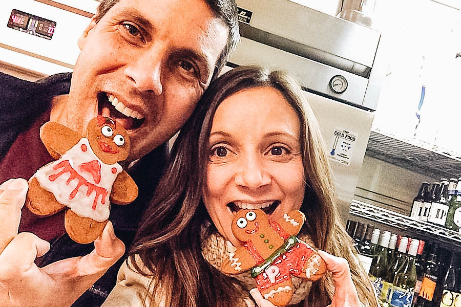 Peter & Annette White with their Gingerbread Christmas Cookies
