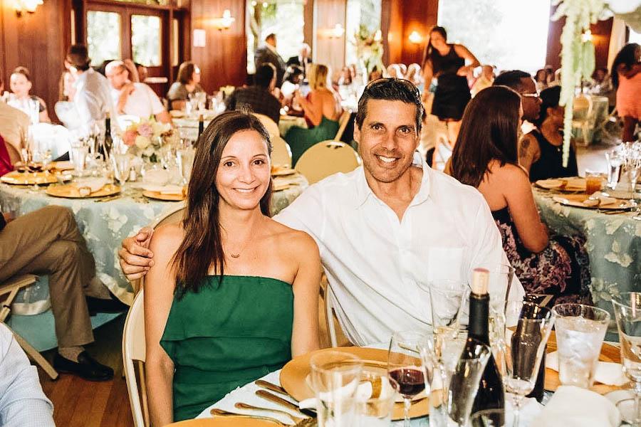 Peter & Annette White having a fancy dinner