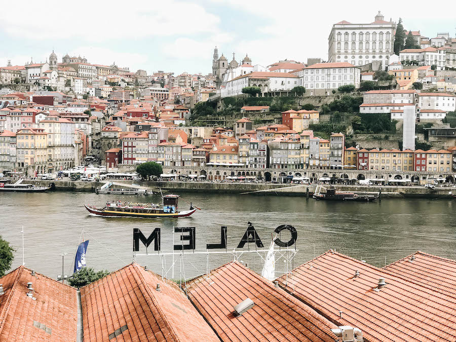 Streets of Ribeira in Porto, Portugal