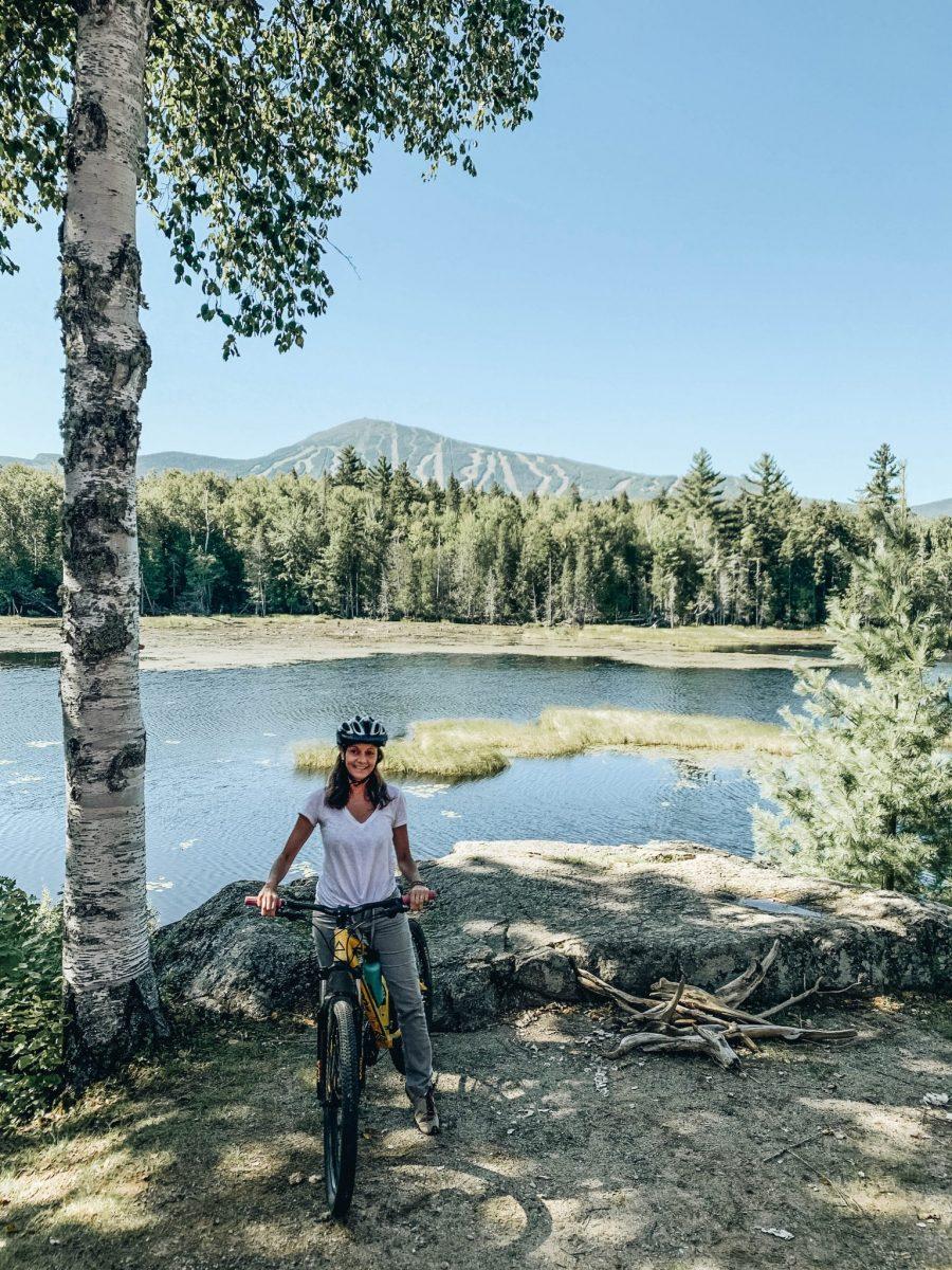 Annette White Mountain Biking in Maine