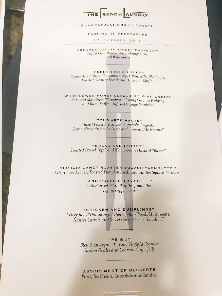 the French Laundry Menu | Getting Reservations at The French Laundry and What to Expect After
