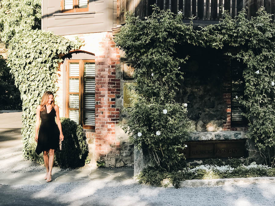 Annette in front of The French Laundry | Getting Reservations at The French Laundry & What to Expect After