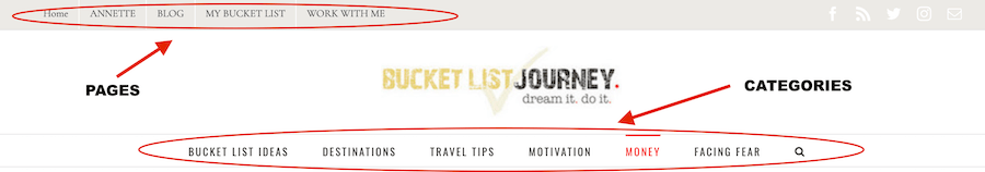 PAGES: How to Start Your Own Successful Bucket List Blog in 6 Easy Steps