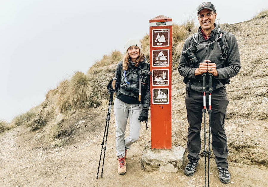 The top of Dead Woman's Pass on the Inca Trail