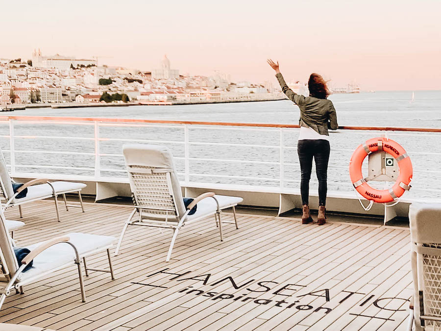 Sun Deck on the on the Hanseatic Inspiration Ship