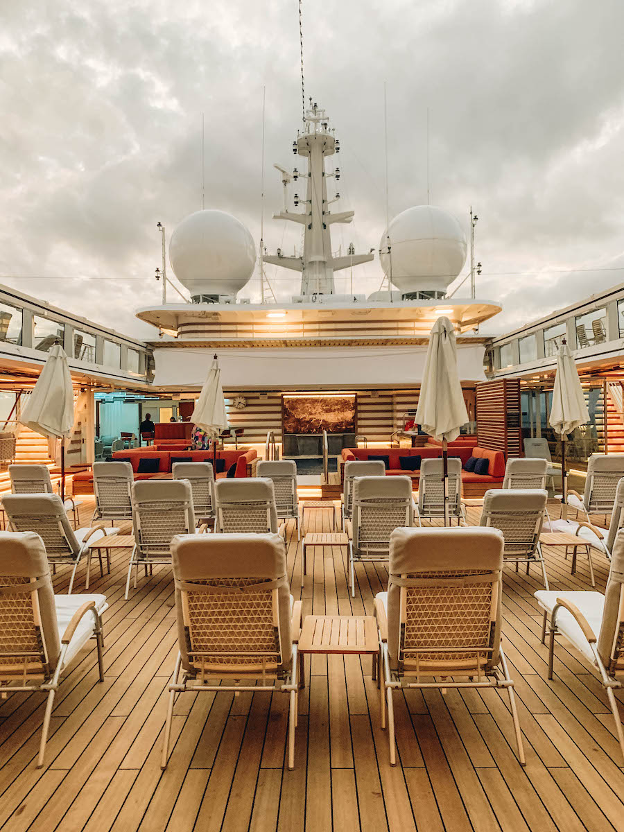 Pool Deck of the Hanseatic Inspiration Cruise Ship
