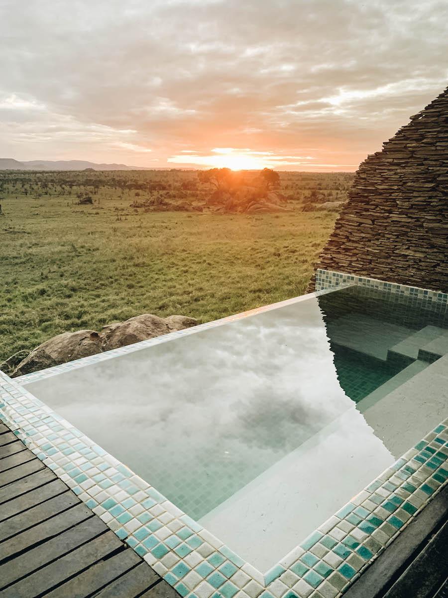 Rooms at the Four Seasons Safari Lodge in Serengeti National Park