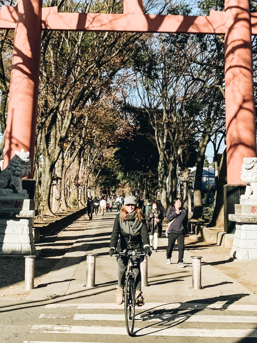Annette White at Omiya shrine in Saitama Prefecture near Toyko