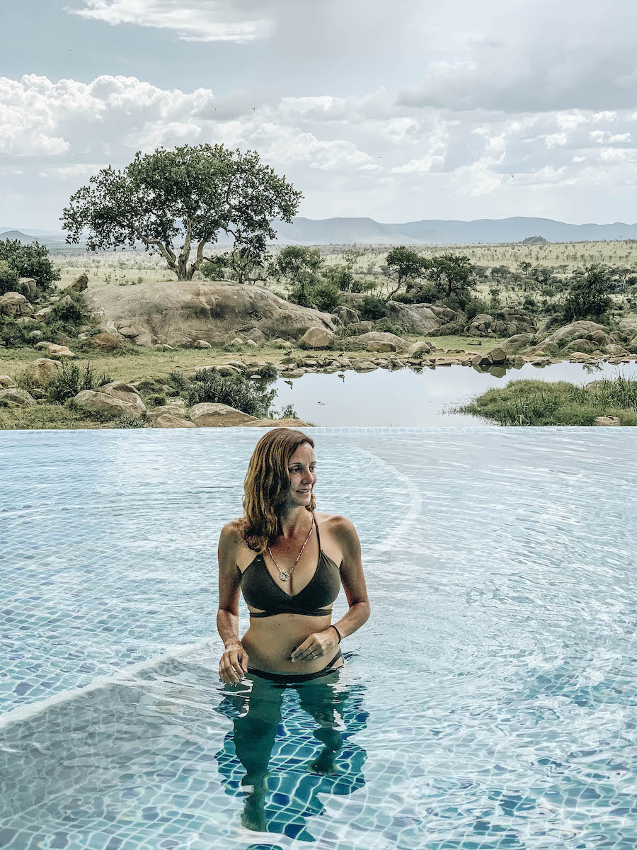 Annette White at the four Seasons Serengeti Lodge
